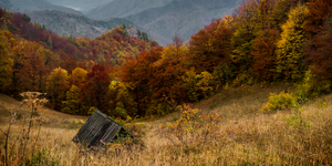 Hut in autumn by GrauWeiss