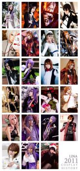 - 2011 COSPLAY HISTORY - by Lina-Lau