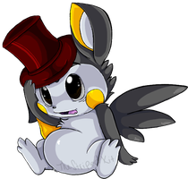 Emolga in a Top Hat Commission by TheStripedKit