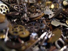 Gears cogs clockwork No.1 by redrockstock