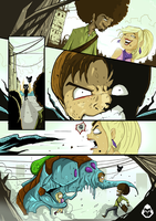 Monster Comic Sample Page by adhytcadelic