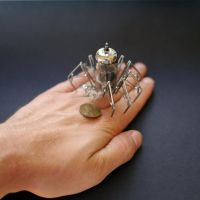 Vacuum Spider No 4 (hand for scale) by AMechanicalMind