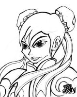 ChunLi line art by Seanleedesign