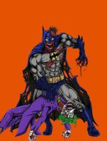 Zombie Batman eats a JokeCOLOR by EvilHayato