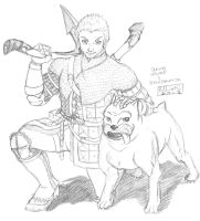 Hawke and Dog :pencil: by MichaelLinkJr