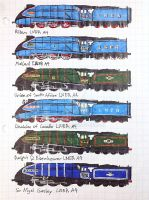 LNER A4 sprites by drawing425