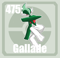 475 Gallade by Pokedex