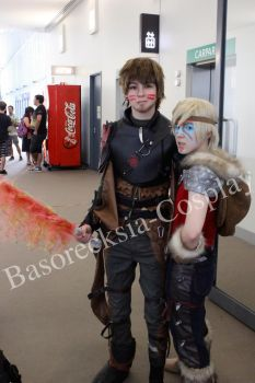 Astrid and Hiccup by basorecksia