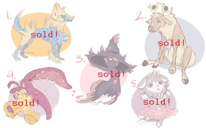 Pokemon Adoptables 4 - sold out! by Unstadoptables