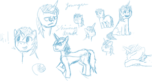 Doodles: Younger Shining Armor by Zoofie