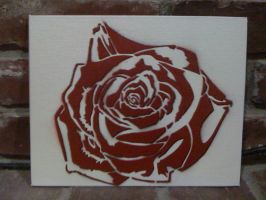 Rose with drop shadow by kwpatrick