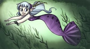 Purple Mermaid by Polarkeet