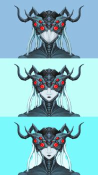 Cyber Spider Queen Head Concept by LordDracoArgentos