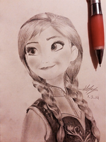 Frozen Anna by hearmerawr0119