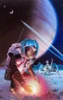 Between the Stars by AlanGutierrezArt