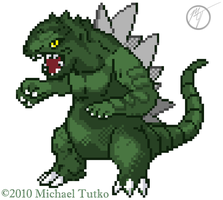 Godzilla Pokemon Sprite by GreenFalcon13