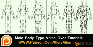 Male body type tutorials by KioryAlion
