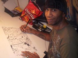 Damion At Work SMILE by DamageArts