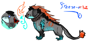 Mutated dog adopts 8 [Closed](Freeze-Or-Burn) by Moracalle