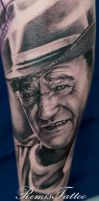 john wayne tattoo by Remistattoo