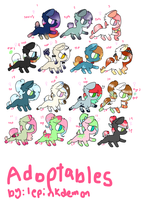 adoptables [open] by LePinkDemon