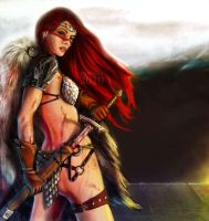 Red-sonja-with-feather-wings-photo-u1 by talha122