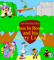 H,B,P and O Puss In Boots and his Merry Lizard by jacobyel