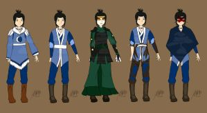 GWW - Azula's Book 1 Outfits by agent-ayu