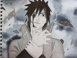 Sasuke's Chidori by GR-the-queen