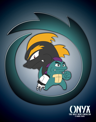 Onyx and Spade with Logo by BoneZi