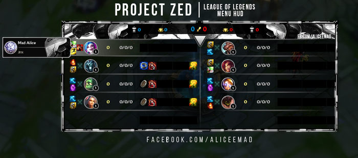 League of Legends Menu HUD - Project Zed by AliceeMad