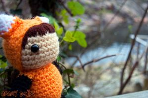 Fox costume amigurumi by Anxocunningham