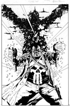 Punisher Max Cover inked by thisismyboomstick