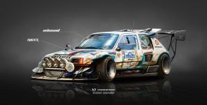 Peugeot 205 T16 on Steroids Inbound Racer by yasiddesign