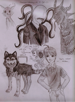 Creepypasta doodles 2 by crescentshadows19