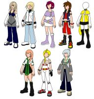 Kingdom Hearts OC Deisgns by PrincessPoutee