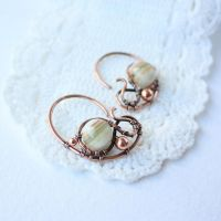 Olive green earrings by WhiteSquaw