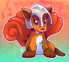 Charity - Soldier Vulpix by raizy