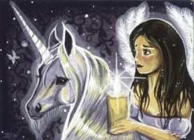 ACEO - Morning's Child by DawnUnicorn