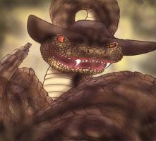 The Snake from Hell by shinragod