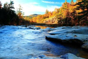 Morning River in Autumn by Celem