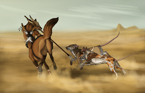 Desert Runners by Mikaley
