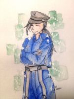 Yao Ling in Amestris military uniform by myowndelusion