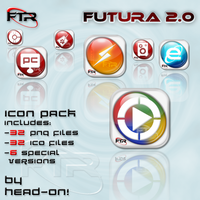 Futura icon pack 2.0 by HeadON5
