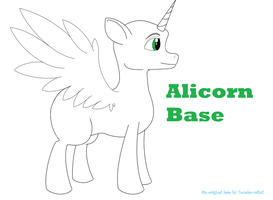 Alicorn Base by Invader-Mika7