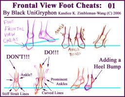 Frontal Point Foot Cheat by BlackUniGryphon