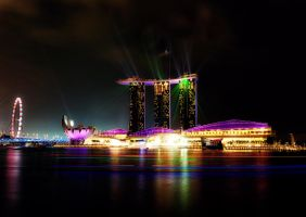 Singapore Night Lights  by SottoPK
