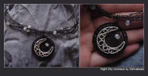 Night sky necklace by bodaszilvia