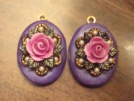Two Purple-and-Pink Lockets by CharpelDesign