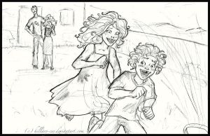 rose and hugo playing by Hillary-CW